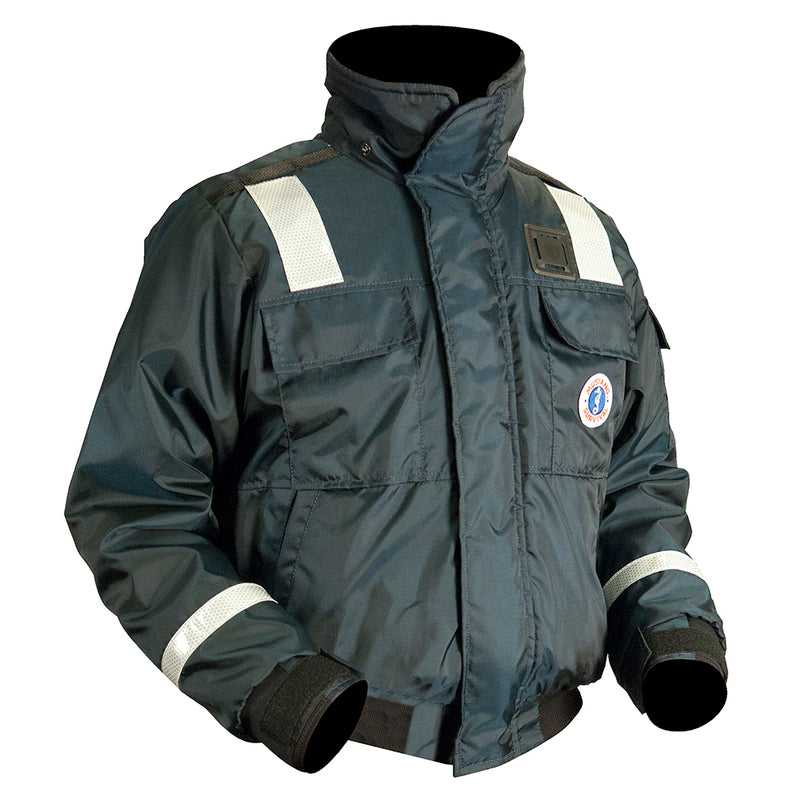 Mustang Classic Bomber Jacket With Solas Reflective Tape:  XXXL [MJ6214T1-XXXL-NV] - Mealey Marine