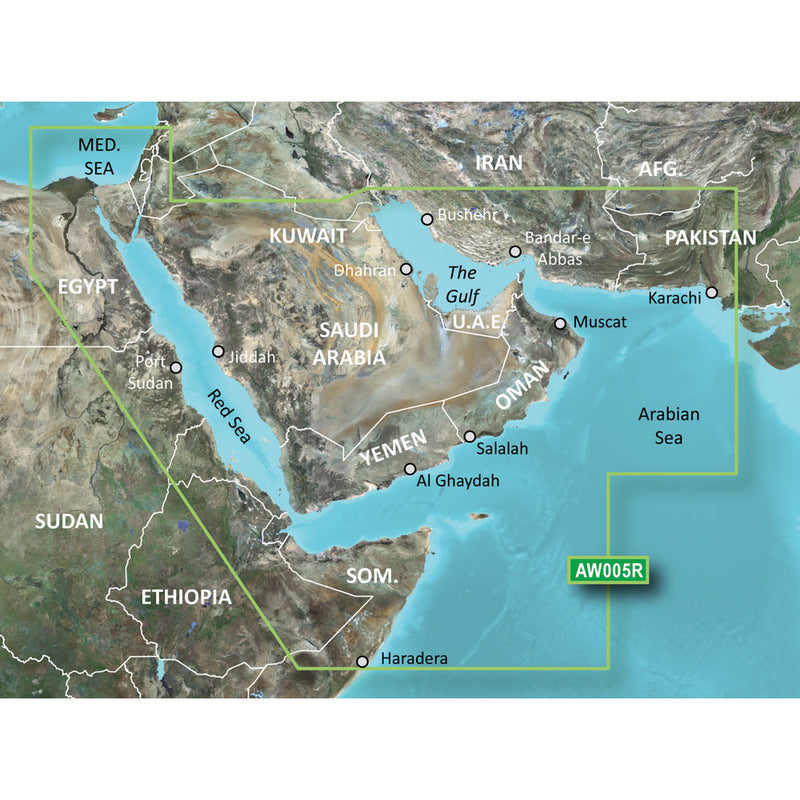 Garmin BlueChart g2 Vision HD - VAW005R - The Gulf & Red Sea - microSD/SD [010-C0924-00] [Mealey_Marine]