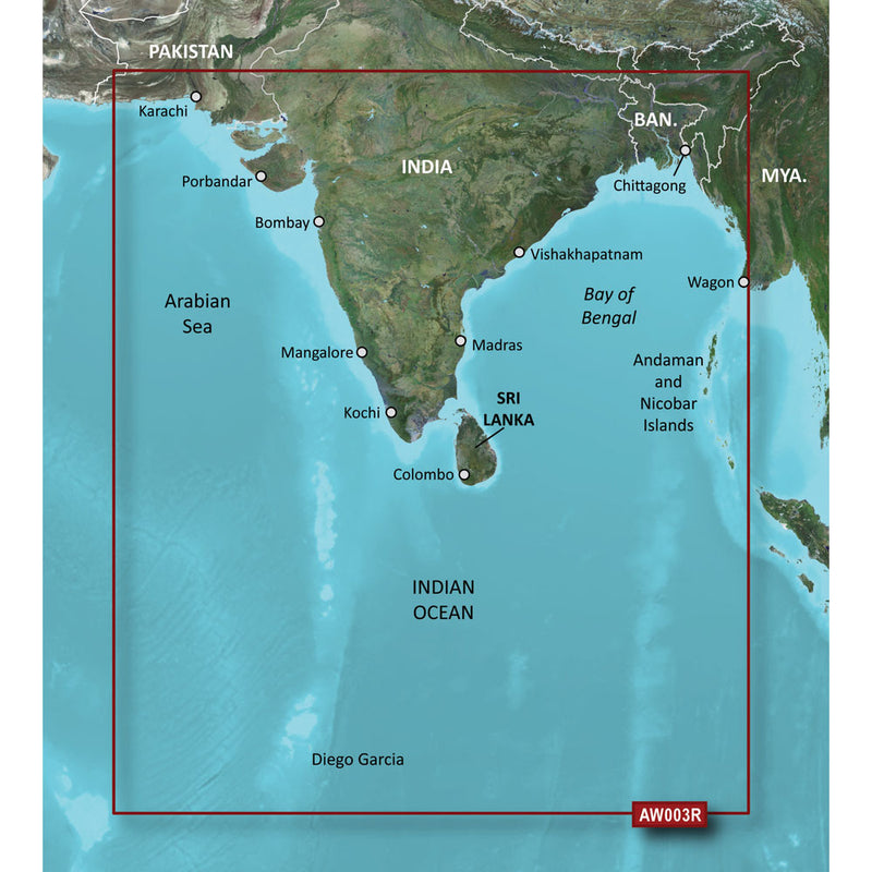 Garmin BlueChart g2 HD - HXAW003R - Indian Subcontinent - microSD/SD [010-C0755-20] [Mealey_Marine]