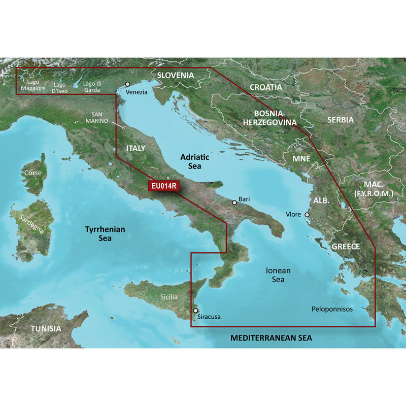 Garmin BlueChart g3 HD - HXEU014R - Italy Adriatic Sea - microSD/SD [010-C0772-20] [Mealey_Marine]
