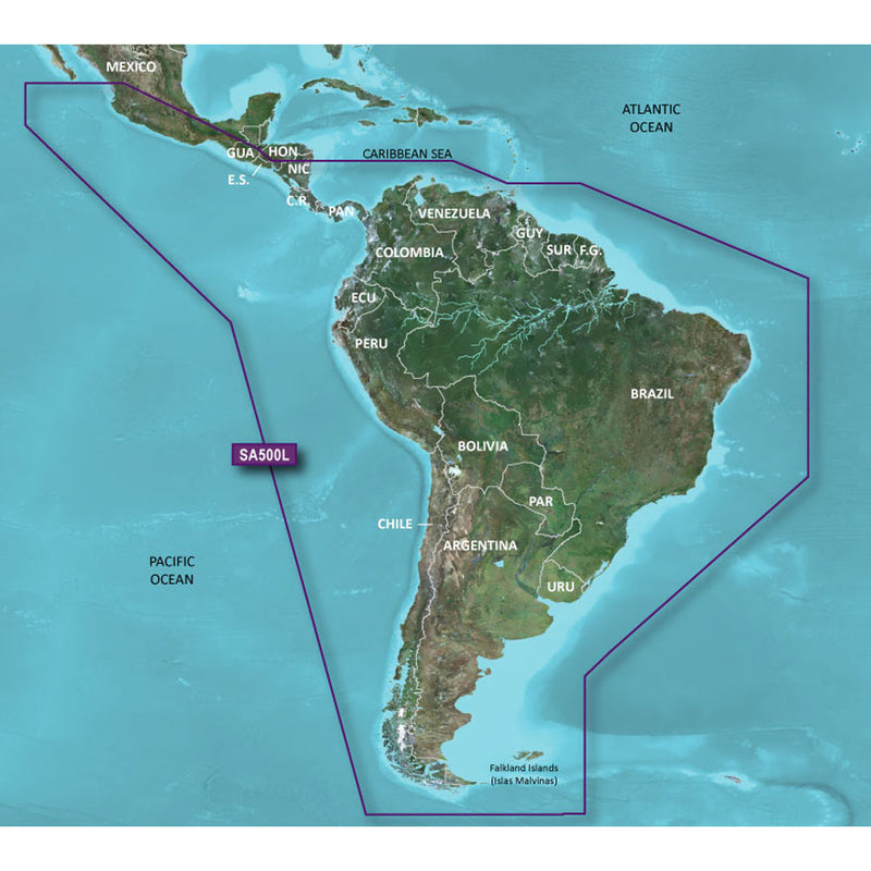 Garmin BlueChart g2 HD - HXSA600X - South America - microSD/SD [010-C1067-20] - Mealey Marine