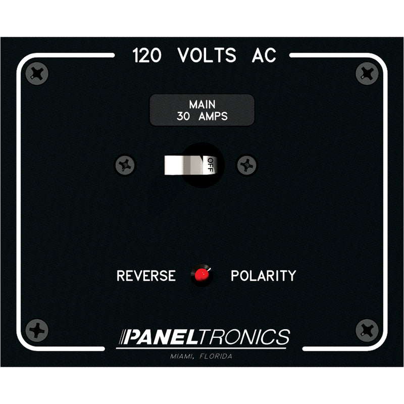 Paneltronics Standard Panel AC Main Double Pole w/30Amp CB & Reverse Polarity Indicator [9982316B] [Mealey_Marine]