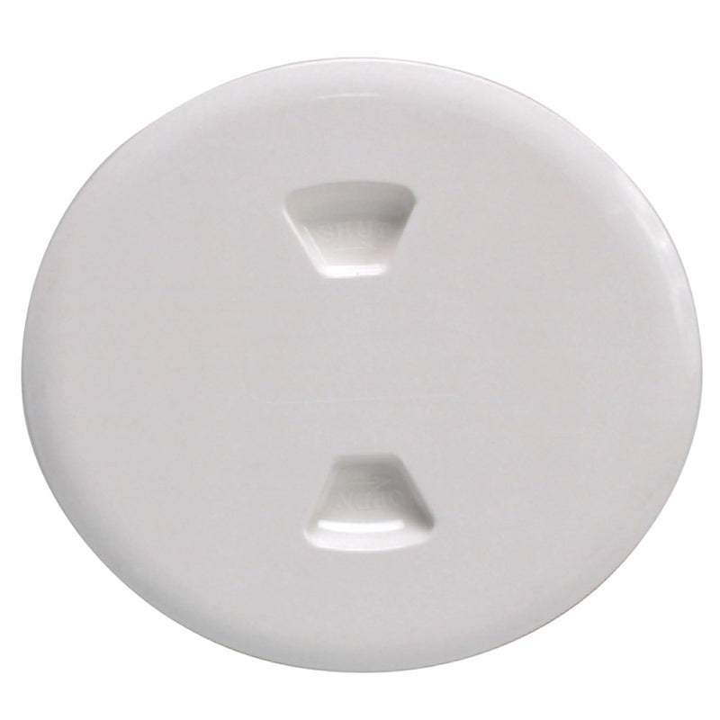 "Beckson 5"" Twist-Out Deck Plate - White [DP50-W] [Mealey_Marine]"