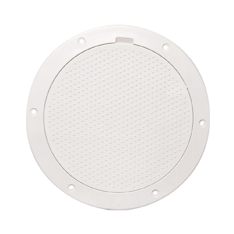 "Beckson 6"" Non-Skid Pry-Out Deck Plate - White [DP63-W] [Mealey_Marine]"