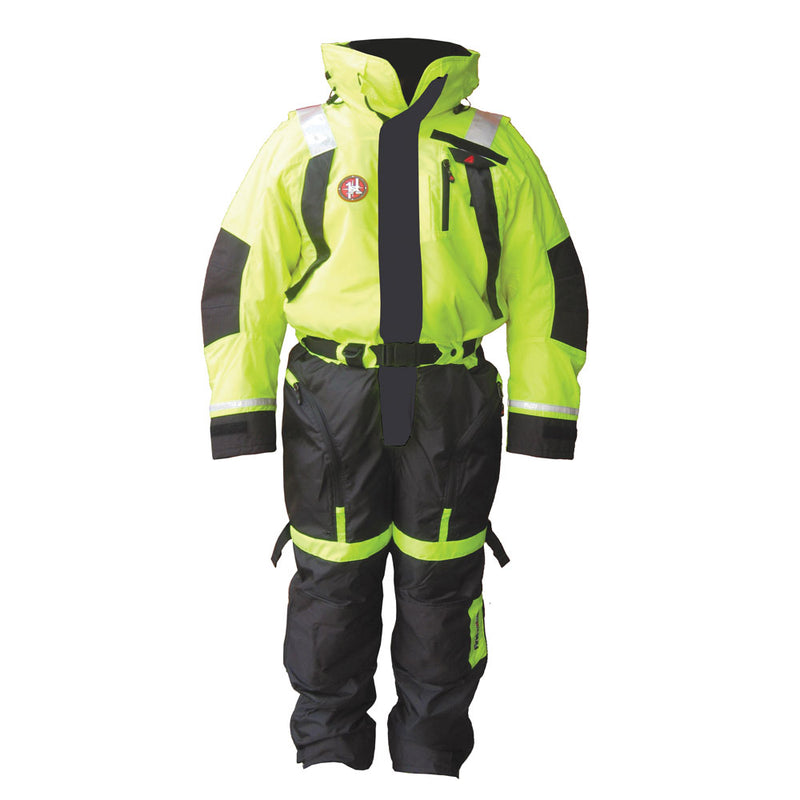 First Watch Anti-Exposure Suit - Hi-Vis Yellow/Black - Small [AS-1100-HV-S] [Mealey_Marine]