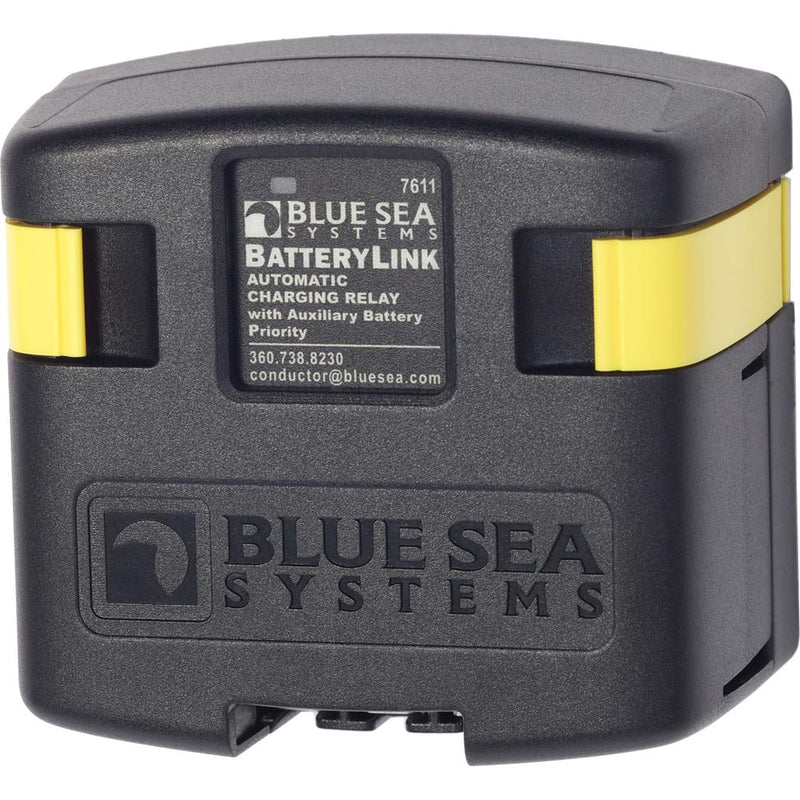Blue Sea 7611 DC BatteryLink Automatic Charging Relay - 120 Amp w/Auxiliary Battery Charging [7611] - Mealey Marine