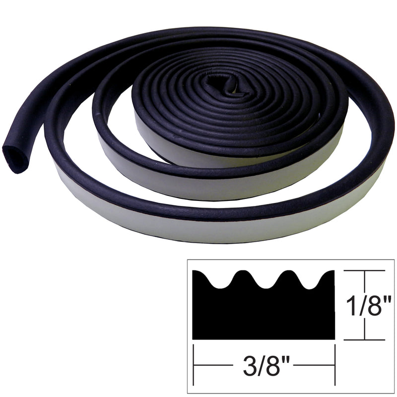 "TACO Weather Seal - 10'L x ""H x 3/8""W - Black [V30-0113B10-1] [Mealey_Marine]"