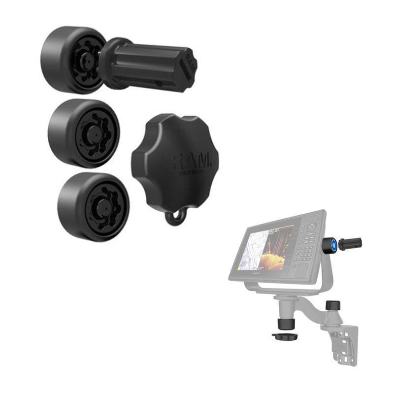 RAM Mount RAM Pin-Lock Security Kit f/Single Swing Arms  Gimbal Brackets [RAP-S-KNOBG-109U] - Mealey Marine