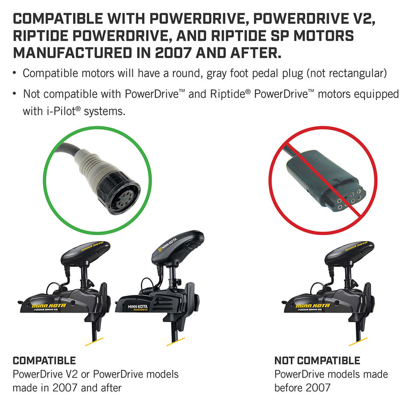 Minn Kota PowerDrive Bluetooth Foot Pedal - ACC Corded [1866070] - Mealey Marine