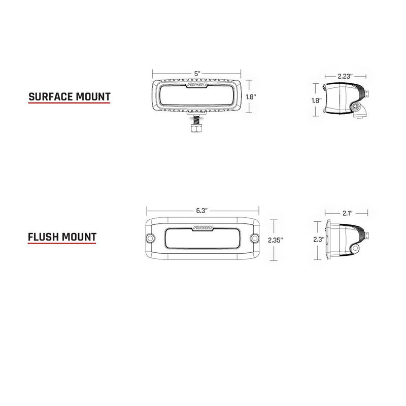 RIGID Industries SR-Q Series PRO Hybrid-Diffused LED - Flush Mount - Pair - White [965513] - Mealey Marine