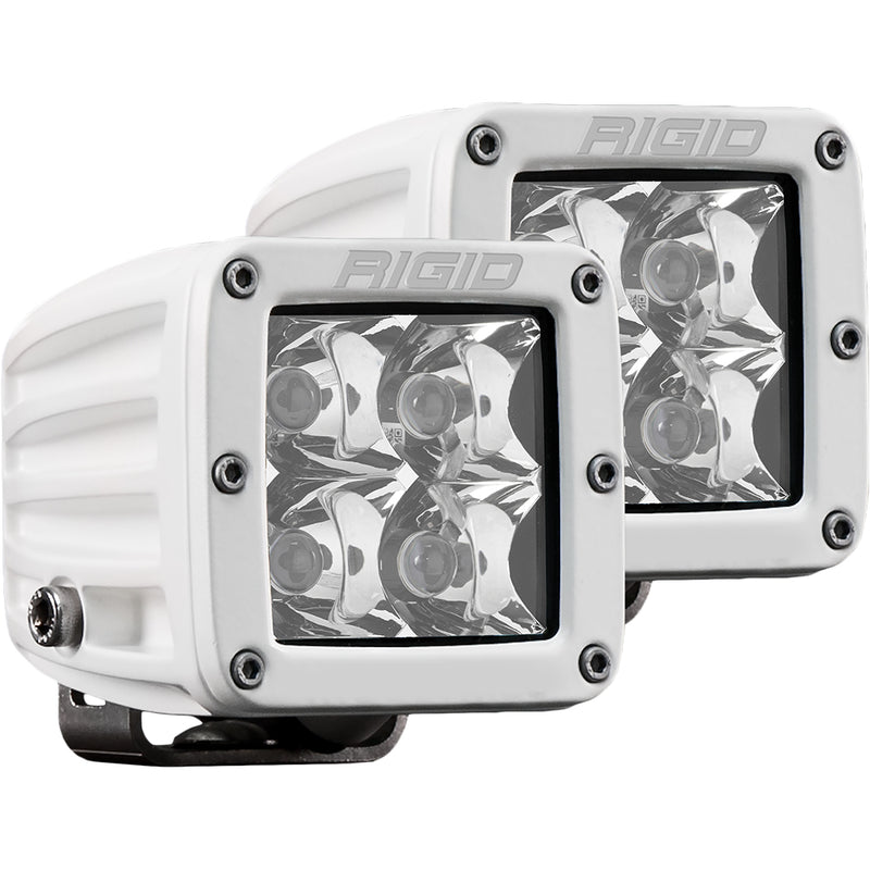 RIGID Industries D-Series PRO Hybrid-Spot LED - Pair - White [602213] [Mealey_Marine]