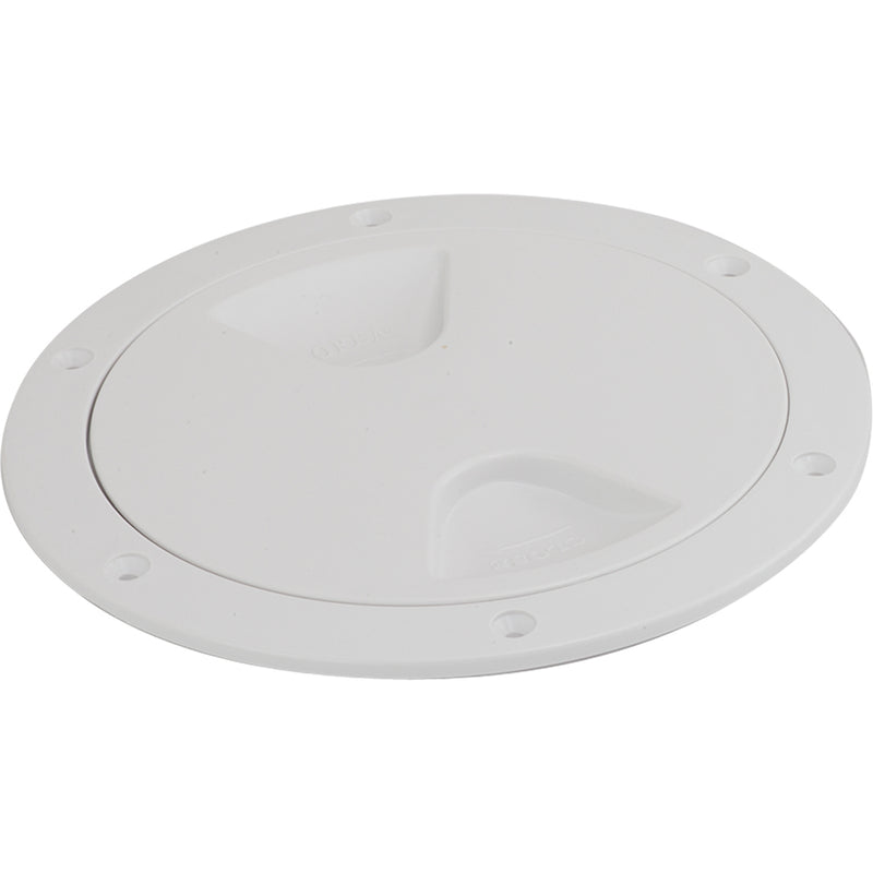 "Sea-Dog Screw-Out Deck Plate - White - 6"" [335760-1] - Mealey Marine"