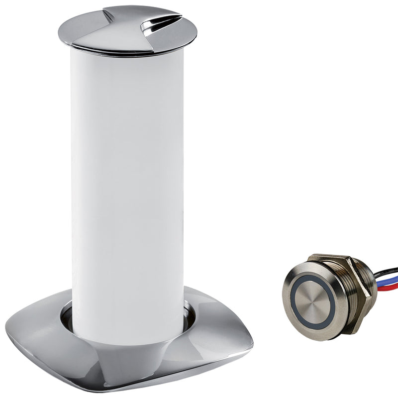 Sea-Dog Aurora Stainless Steel LED Pop-Up Table Light - 3W w/Touch Dimmer Switch [404610-3-403061-1] - Mealey Marine