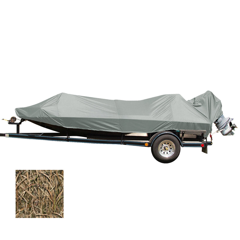 Carver Performance Poly-Guard Styled-to-Fit Boat Cover f/16.5 Jon Style Bass Boats - Shadow Grass [77816C-SG] [Mealey_Marine]
