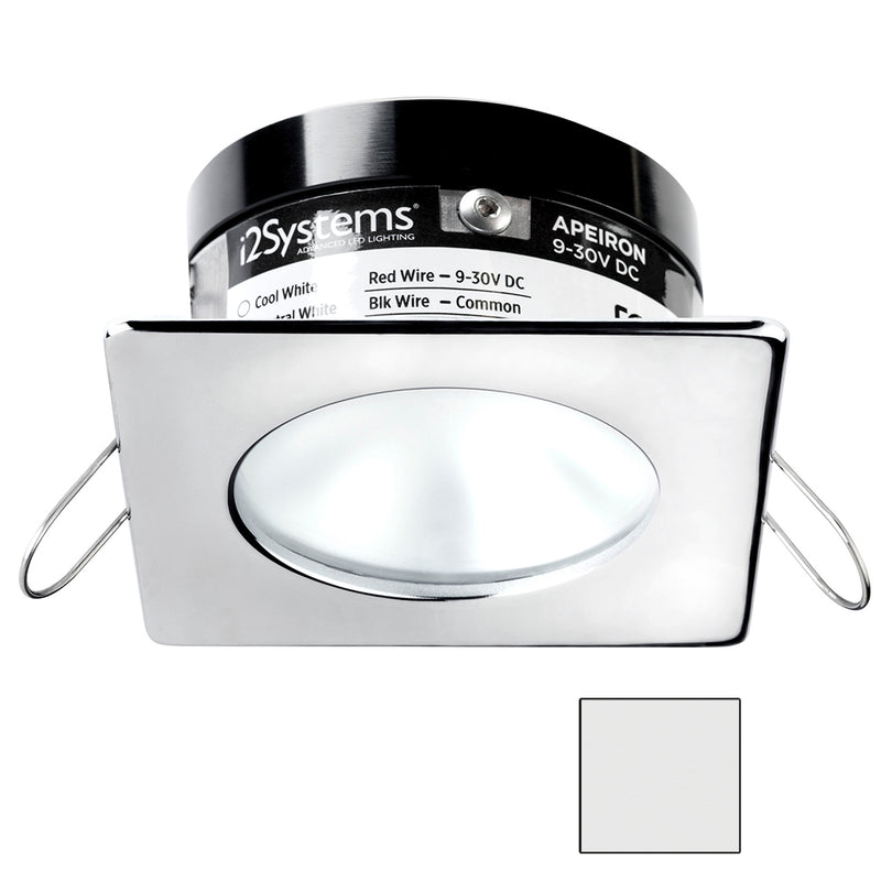 i2Systems Apeiron A503 3W Spring Mount Light - Square/Round - Cool White - Polished Chrome Finish [A503-12AAG] [Mealey_Marine]