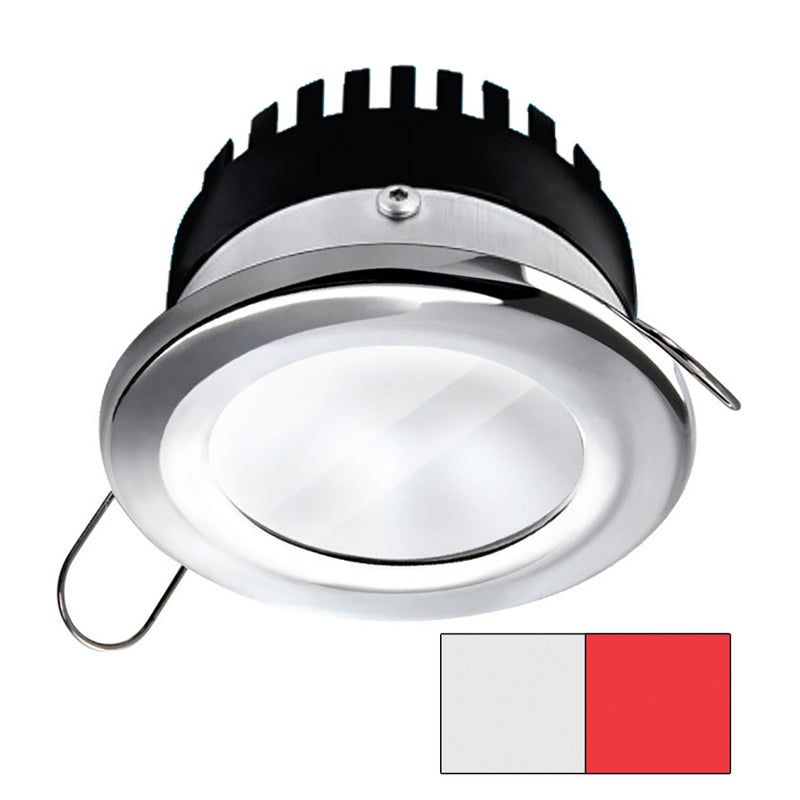 i2Systems Apeiron A506 6W Spring Mount Light - Round - Cool White  Red - Polished Chrome Finish [A506-11AAG-H] [Mealey_Marine]