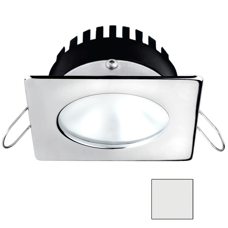 i2Systems Apeiron A506 6W Spring Mount Light - Square/Round - Cool White - Polished Chrome Finish [A506-12AAG] [Mealey_Marine]