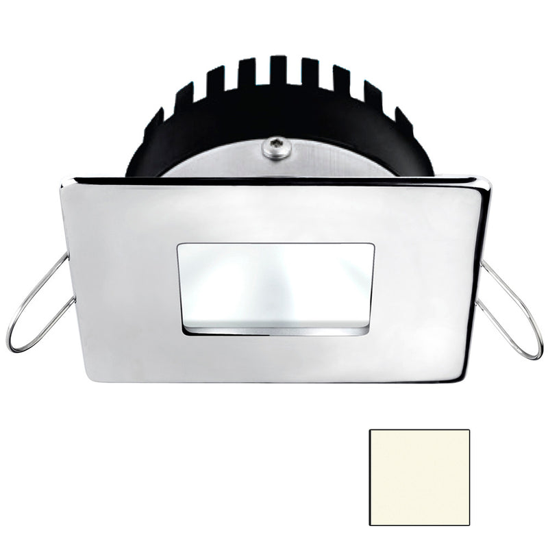 i2Systems Apeiron A506 6W Spring Mount Light - Square/Square - Neutral White - Polished Chrome Finish [A506-14BBD] [Mealey_Marine]