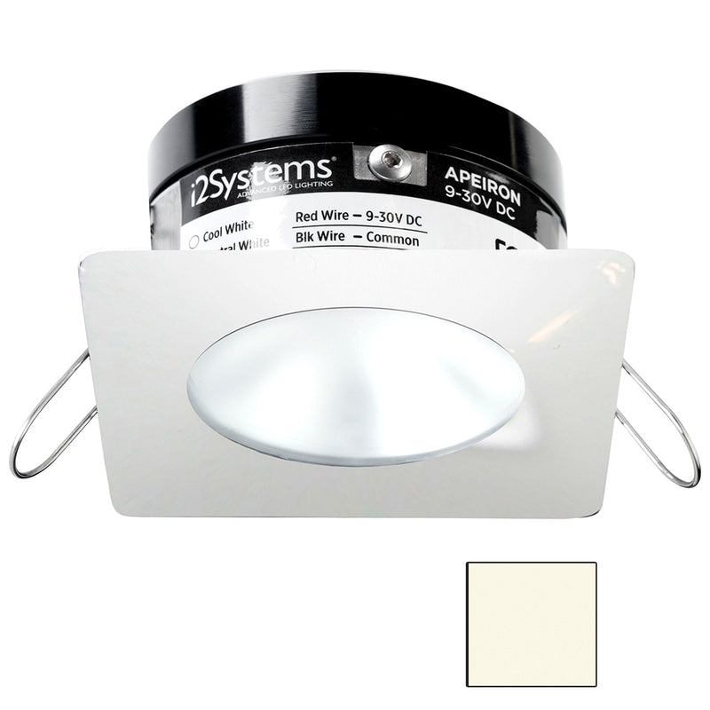 i2Systems Apeiron PRO A503 - 3W Spring Mount Light - Square/Round - Neutral White - White Finish [A503-32BBD] [Mealey_Marine]