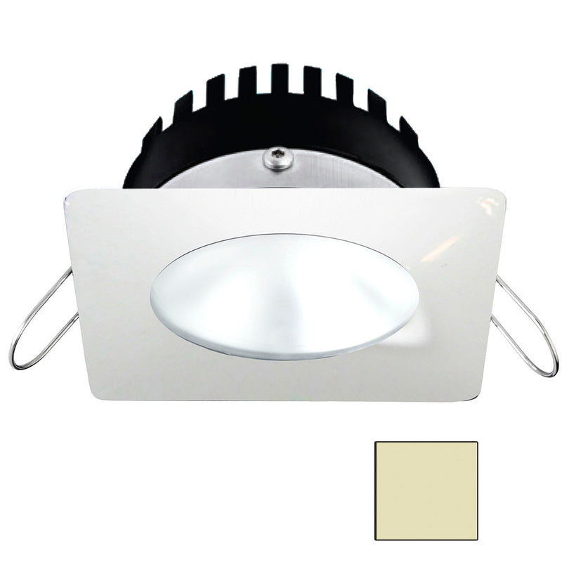i2Systems Apeiron PRO A506 - 6W Spring Mount Light - Square/Round - Warm White - White Finish [A506-32CBBR] [Mealey_Marine]
