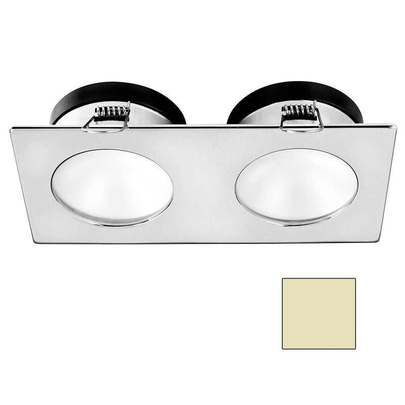 i2Systems Apeiron A1110Z - 4.5W Spring Mount Light - Double Round - Warm White - Brushed Nickel Finish [A1110Z-45CAB] [Mealey_Marine]