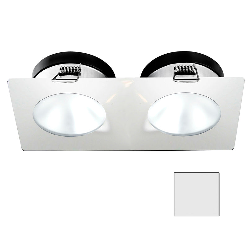 i2Systems Apeiron A1110Z - 4.5W Spring Mount Light - Double Round - Cool White - White Finish [A1110Z-35AAH] [Mealey_Marine]