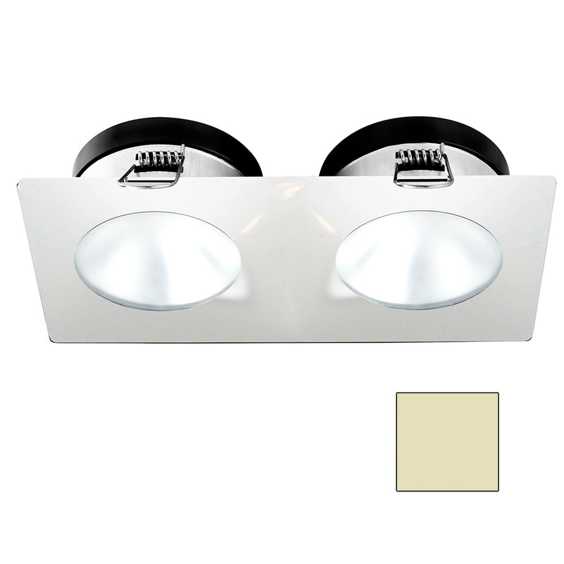 i2Systems Apeiron A1110Z - 4.5W Spring Mount Light - Double Round - Warm White - White Finish [A1110Z-35CAB] [Mealey_Marine]