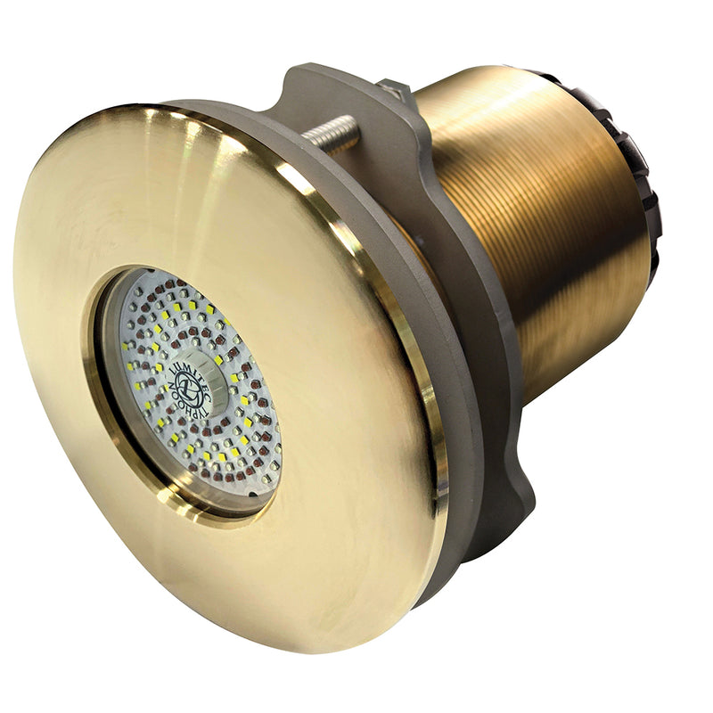 Lumitec SeaBlaze Typhoon Underwater Light - Bronze Thru-Hull - Spectrum RGBW - Flush Mount [101451] [Mealey_Marine]
