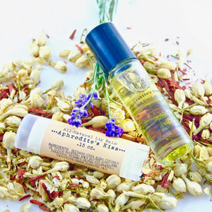 Aphrodite's Kiss All-Natural Aromatherapy Oil and Lip Balm Set
