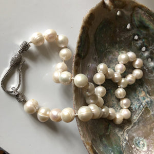 Large ivory potato pearl necklace classic
