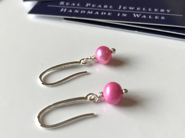 Earrings: Single pink pearl drop earrings - Precious as a Pearl