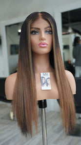 "Hair System -  Misty Pure Donor Hair- 20-22"" Closure Unit"