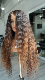 Hair System -Pure Donor Color Natural Curly - Frontal Unit