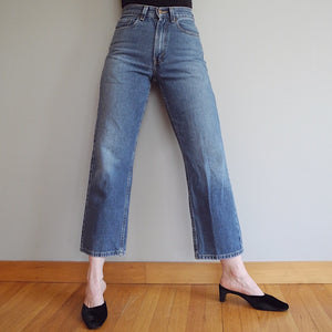 VINTAGE | Levi's 569 High-Waisted Cropped Jeans - Blue Denim (26)