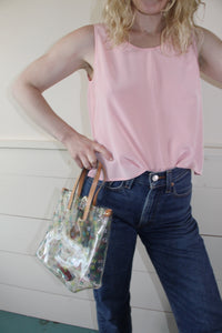 VINTAGE | Bloomingdale's Silk Shell Top - Pink (XS-M)