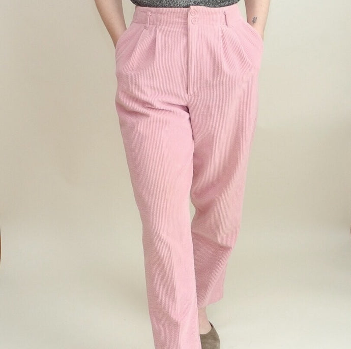 VINTAGE | Corduroy High Waisted Pants - Blush (4/6)