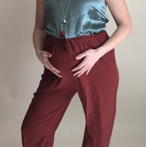 VINTAGE | Versatile Silk Pants - Oxblood (S-XL)
