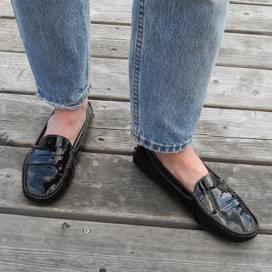 fad49d50c12 DESIGNER | Tod's Gommino Driving Shoes - Black Patent Leather (6.5 ...