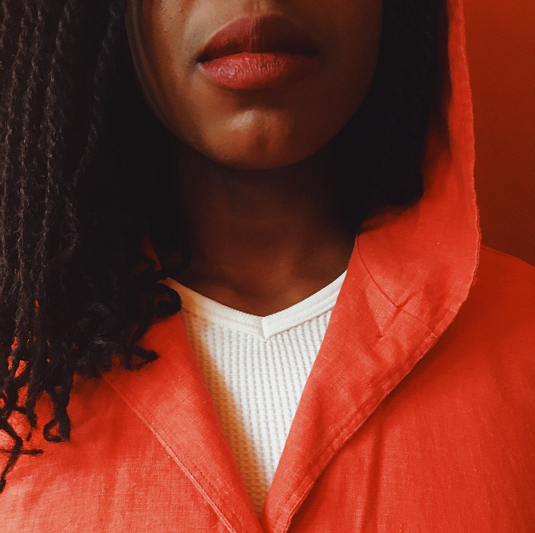VINTAGE | Hooded Cape - Red (S-XL)