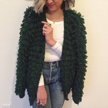 VINTAGE | CLOVIS RUFFIN Loop Knit Cardigan- Emerald Green (XS-L)