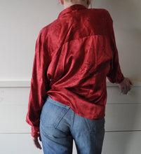 VINTAGE | Ellen Tracy Silk Toile Blouse - Red (XS-L)