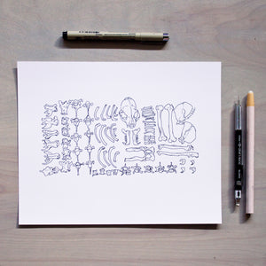 'Divided' Print - Inktober 2018 Drawing