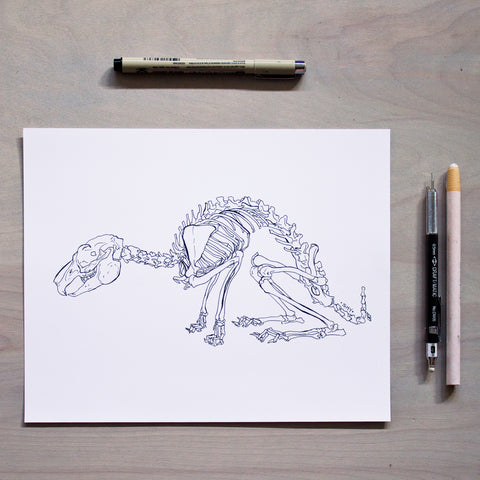 'Shy' Print - Inktober 2018 Drawing