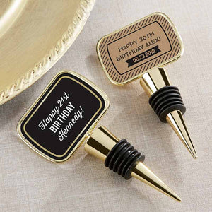 Personalized Gold Bottle Stopper - Boozie Birthday
