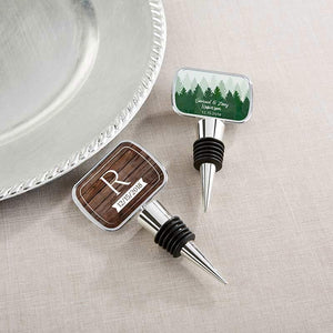 Personalized Silver Bottle Stopper - Winter