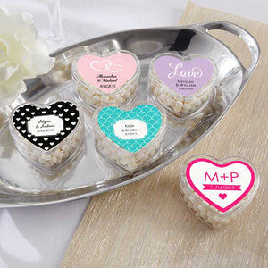 Heart Favor Container - Wedding (Set of 12) (Available Personalized)