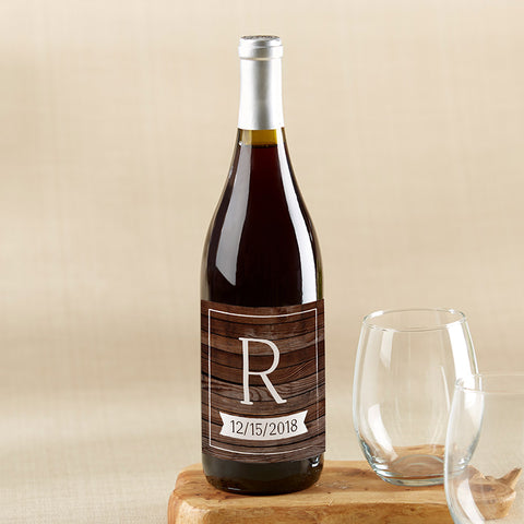 Personalized Wine Bottle Labels - Winter