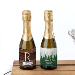 Personalized Mini Wine Bottle Labels - Winter