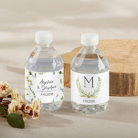 Personalized Water Bottle Labels - Botanical Garden