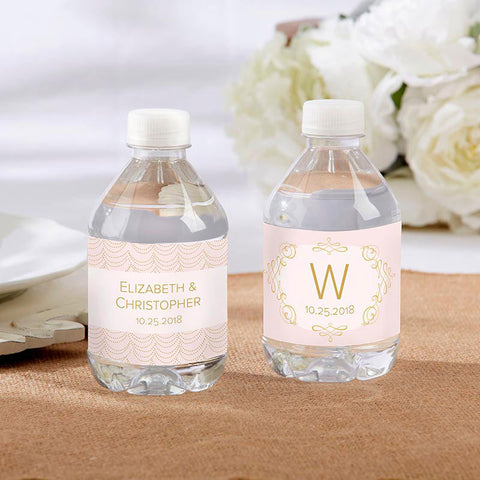 Personalized Water Bottle Labels - Modern Romance